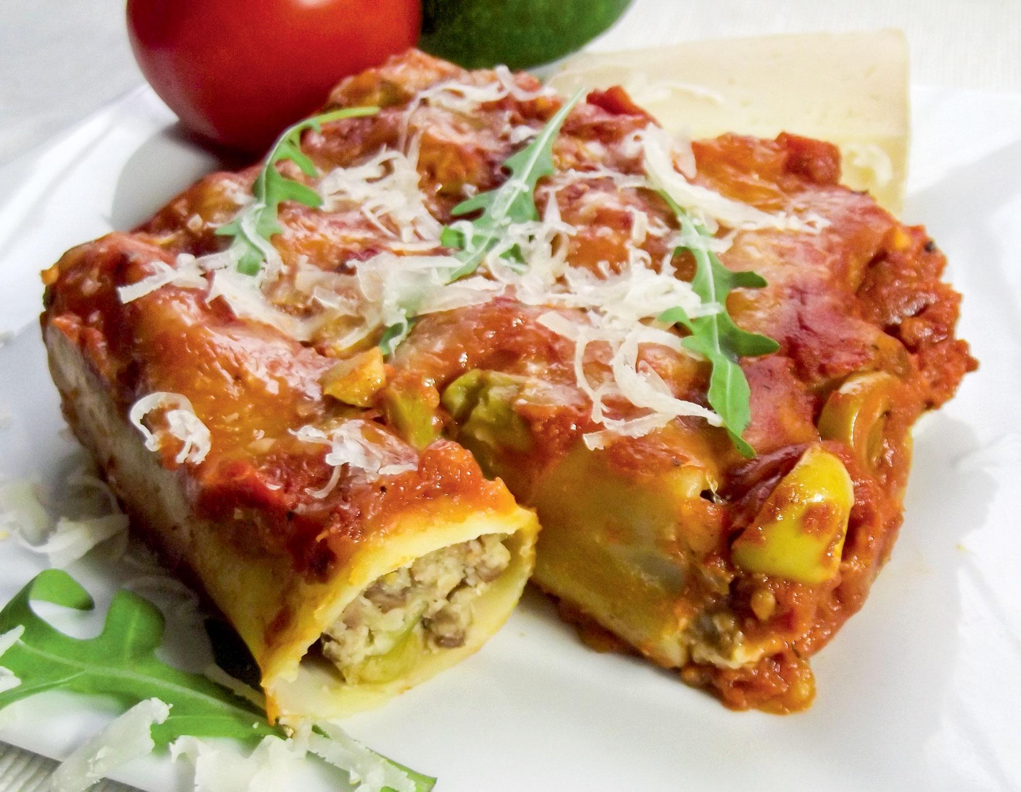 Cannelloni po kolarsku, z wołowiną i płatkami owsianymi