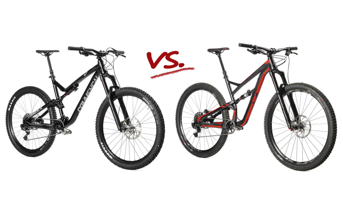 Rowery all mountain Commencal vs YT