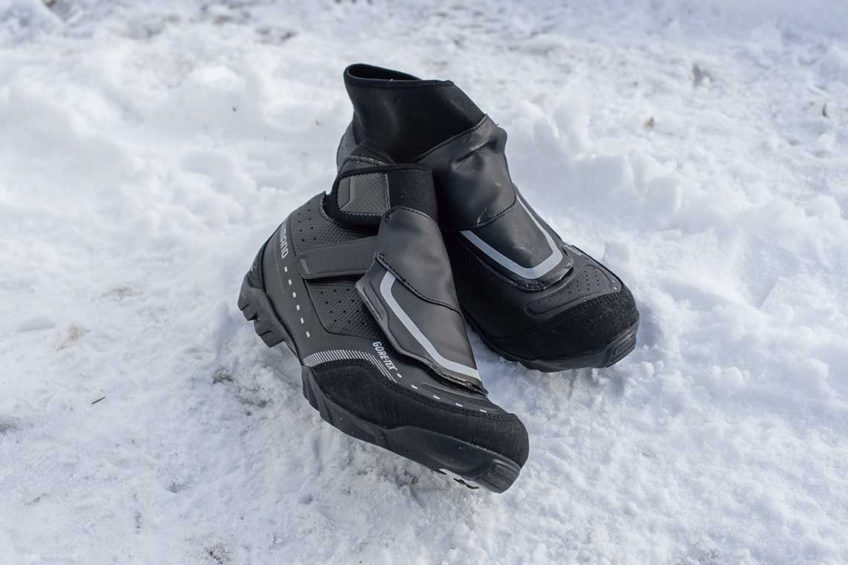 Zimowe buty rowerowe. Shimano