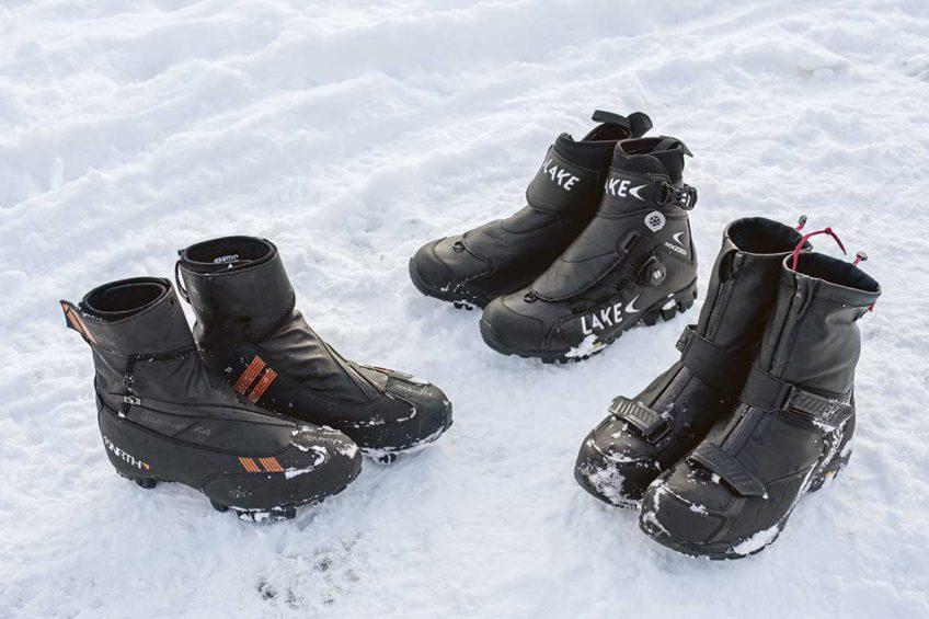 Zimowe buty rowerowe. Od lewej: 45 Nrth, Lake, Bontrager