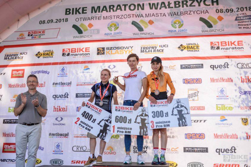 Bike Maraton Wałbrzych 2018 podium giga kobiety