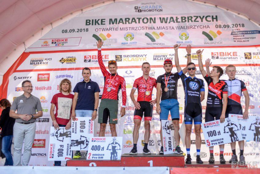 Bike Maraton Wałbrzych 2018 podium giga mężczyźni