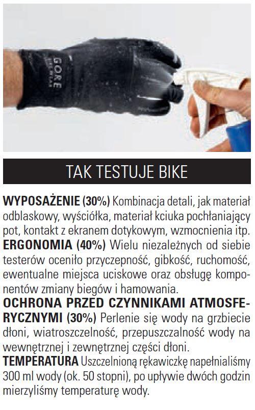 Rekawiczki - jak testuje Bike