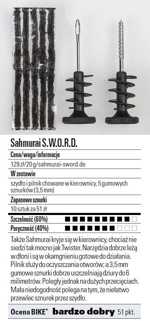 Korki uszczelniające tubeless - Sahmurai